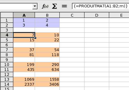 Matrices - Calculer des metre carre ...